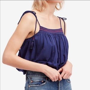 🎉HP Free People Cropped Top Embroidered